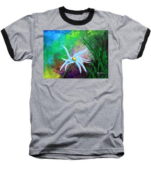 Wild Daisy 2 Baseball T-Shirt by Kume Bryant