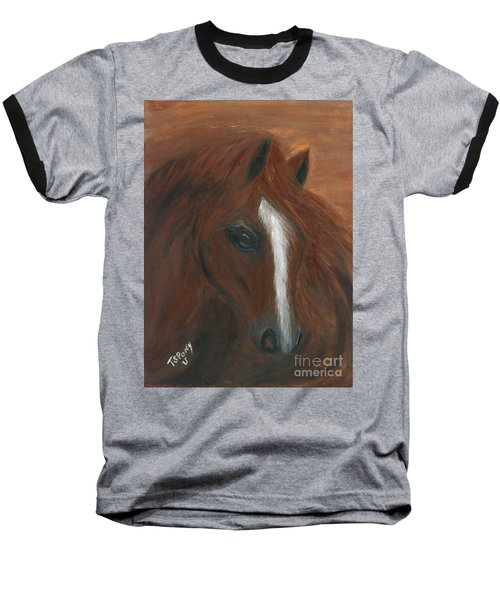 Baseball T-Shirt featuring the painting Wildfire by Barbie Batson