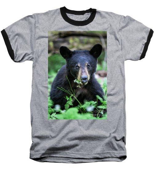 Wildflower Bear Baseball T-Shirt by Ronald Lutz