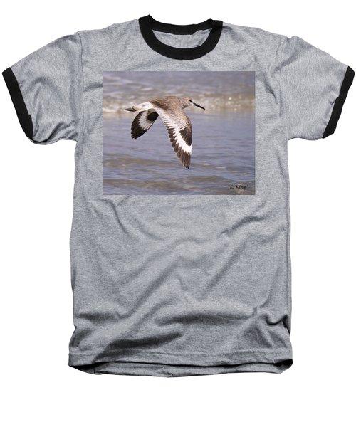 Willet In Flight Baseball T-Shirt