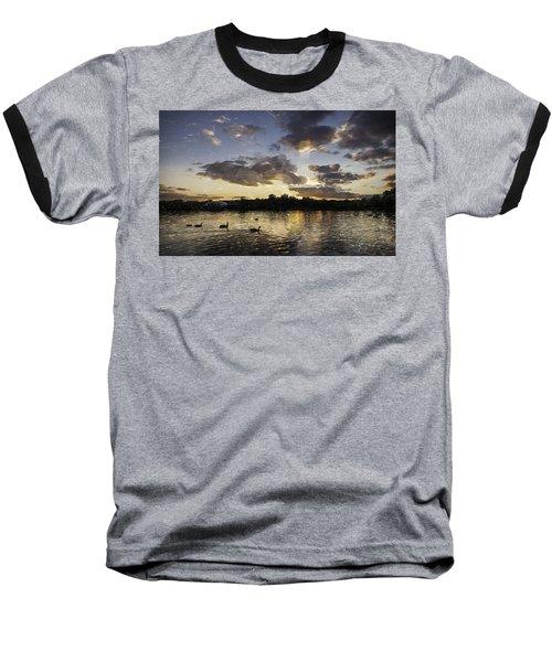 Baseball T-Shirt featuring the digital art Wimbledon Sunset by Matt Malloy