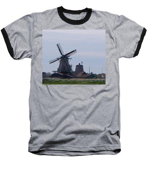 Windmill Baseball T-Shirt by Manuela Constantin