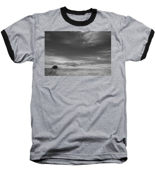 Baseball T-Shirt featuring the photograph Windmills In The Distant Hills by Kathleen Grace
