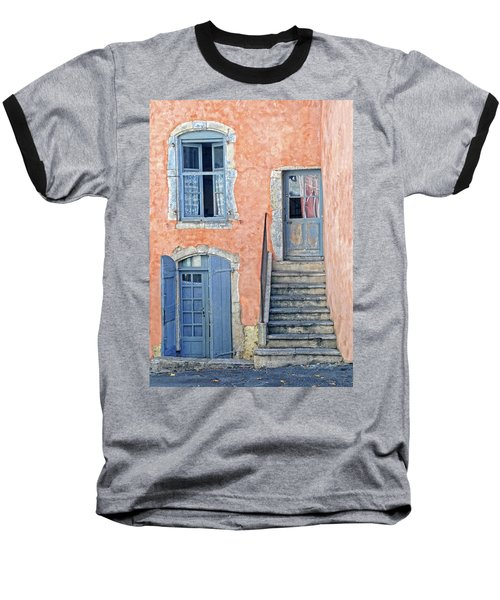Baseball T-Shirt featuring the photograph Window And Doors Provence France by Dave Mills