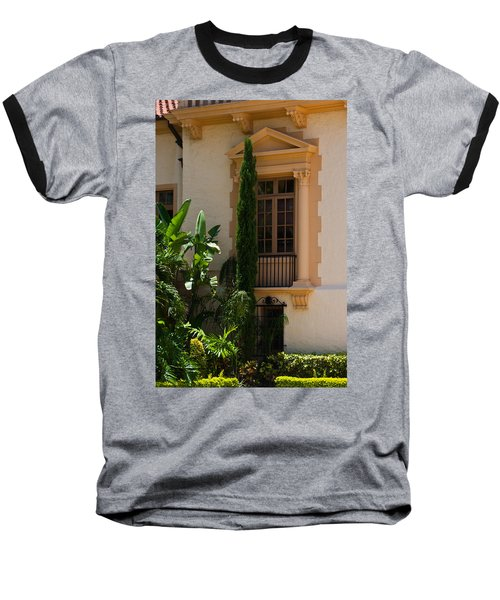 Baseball T-Shirt featuring the photograph Window At The Biltmore by Ed Gleichman