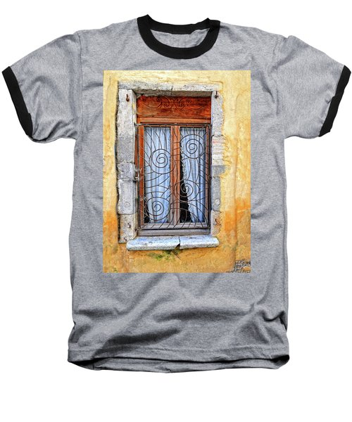 Baseball T-Shirt featuring the photograph Window Provence France by Dave Mills