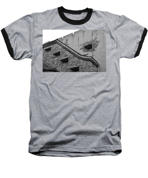 Windowed Wall Baseball T-Shirt by Bonnie Myszka
