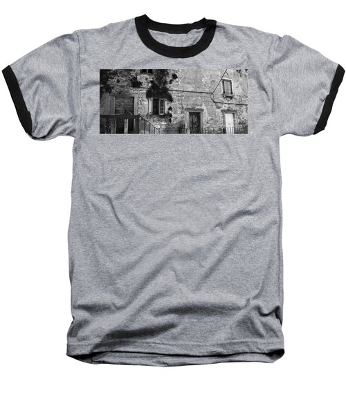 Baseball T-Shirt featuring the photograph Crumbling In Croatia by Andy Prendy