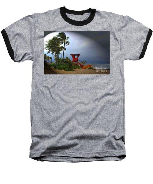 Windy Day In Haleiwa Baseball T-Shirt