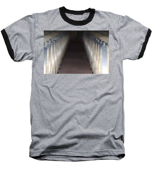 Wine Barrels In Line Baseball T-Shirt