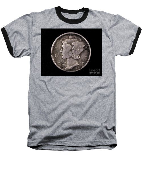 Winged Liberty Mercury Silver Dime Coin Baseball T-Shirt