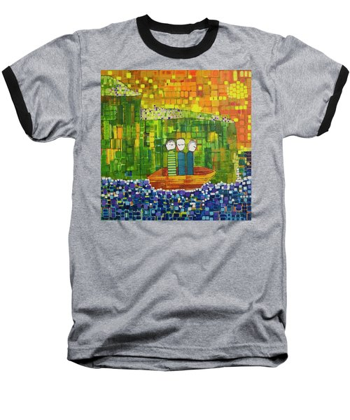 Baseball T-Shirt featuring the painting Wink Blink And Nod by Donna Howard