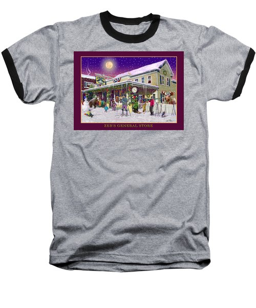 Winter At Zebs General Store In North Conway Nh Baseball T-Shirt