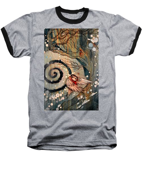 Baseball T-Shirt featuring the painting Winter Becoming by Sandro Ramani