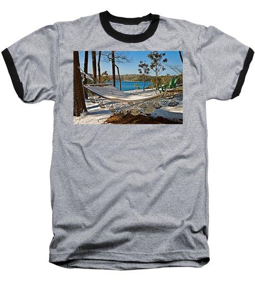 Baseball T-Shirt featuring the photograph Winter Hammock by Susan Leggett