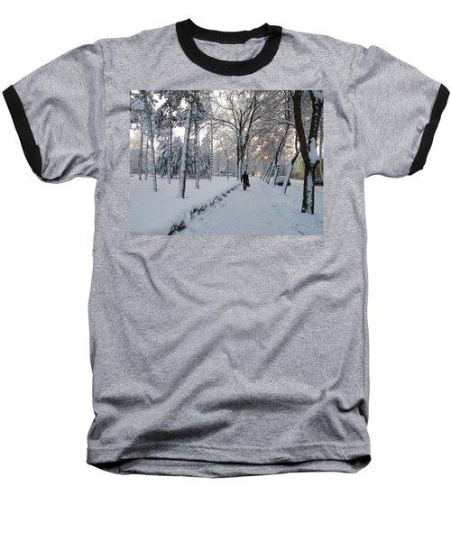 Baseball T-Shirt featuring the photograph Winter In Mako by Anna Ruzsan