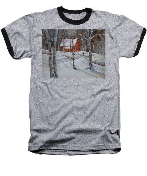 Winter In The Woods Baseball T-Shirt