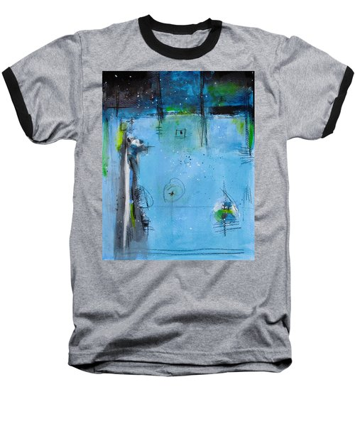Baseball T-Shirt featuring the painting Winter by Nicole Nadeau