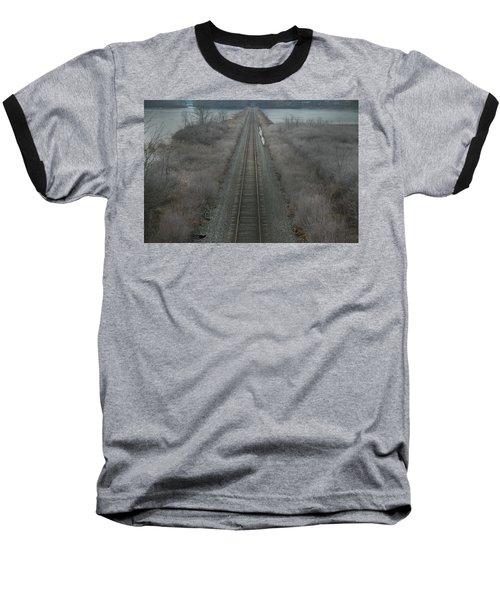 Winter Tracks  Baseball T-Shirt by Neal Eslinger