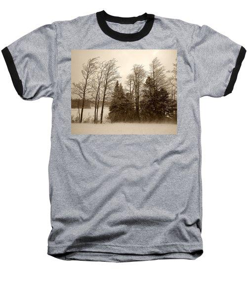 Baseball T-Shirt featuring the photograph Winter Treeline by Hugh Smith