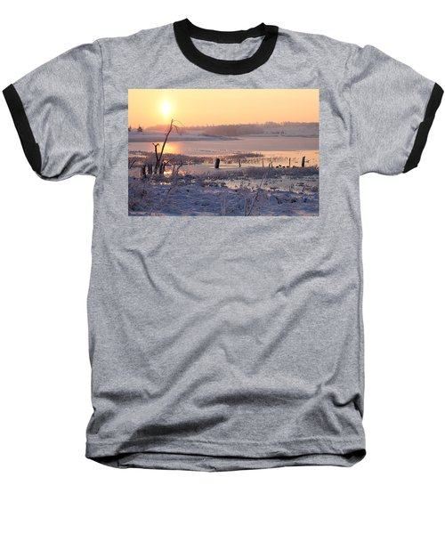 Baseball T-Shirt featuring the photograph Winter's Morning by Elizabeth Winter