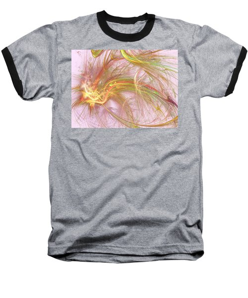 Baseball T-Shirt featuring the digital art Wispy Willow by Kim Sy Ok