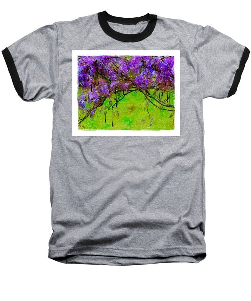 Baseball T-Shirt featuring the photograph Wisteria Bower by Judi Bagwell