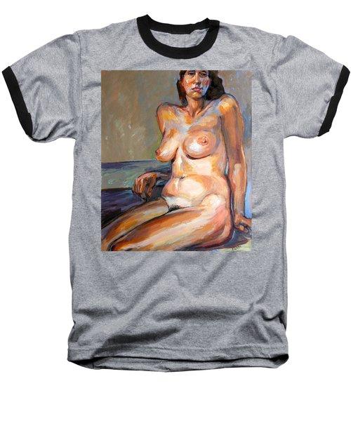Woman Nude Baseball T-Shirt