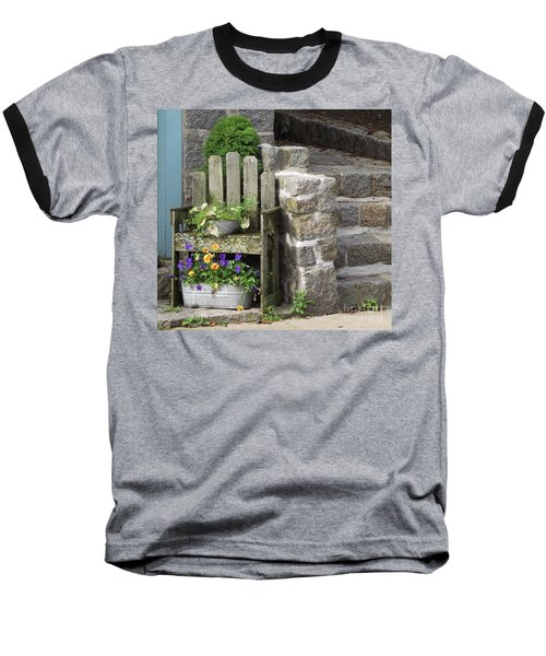 Wood And Granite Baseball T-Shirt