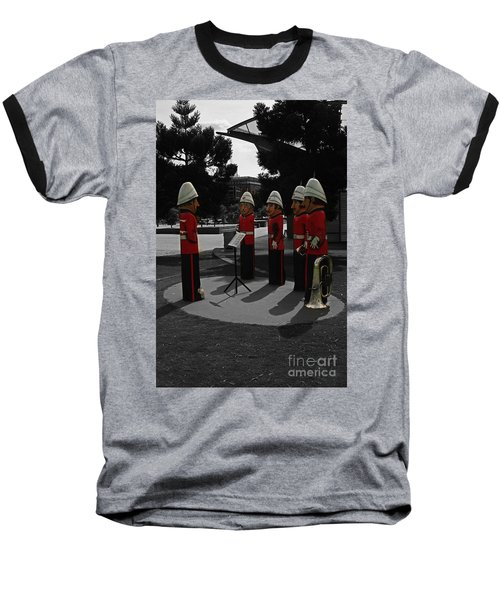 Baseball T-Shirt featuring the photograph Wooden Bandsmen by Blair Stuart
