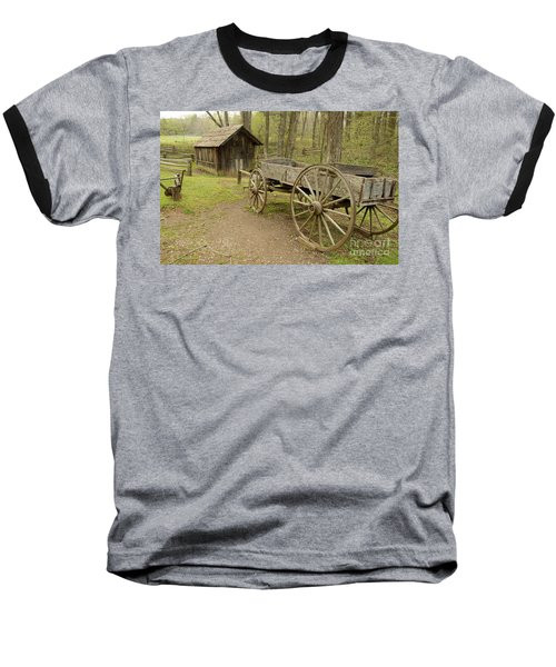 Wooden Wagon Baseball T-Shirt