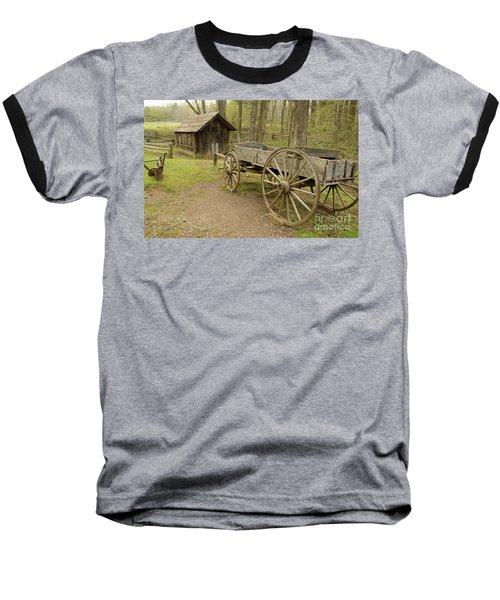 Wooden Wagon Baseball T-Shirt by Cindy Manero