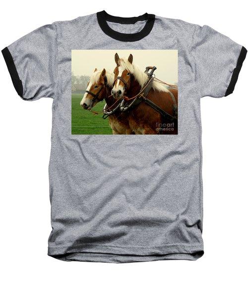 Work Horses Baseball T-Shirt by Lainie Wrightson