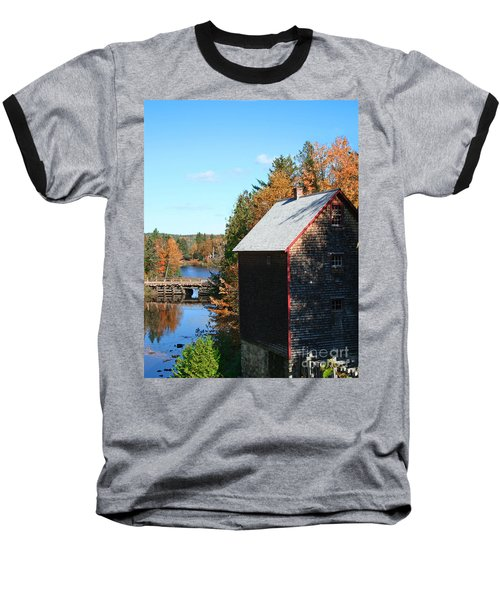 Baseball T-Shirt featuring the photograph Working Gristmill by Barbara McMahon