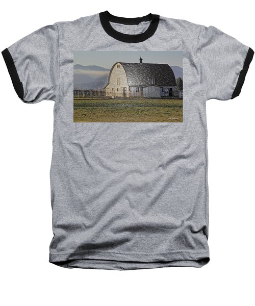 Wrapped Barn Baseball T-Shirt by Mick Anderson