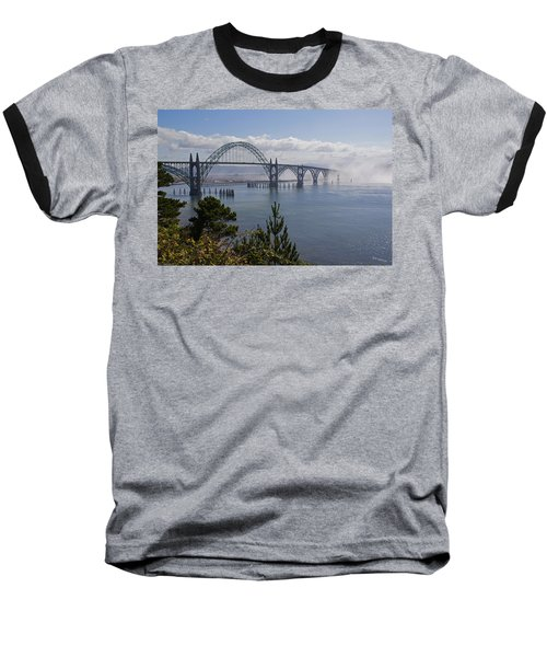 Yaquina Bay Bridge Baseball T-Shirt by Mick Anderson