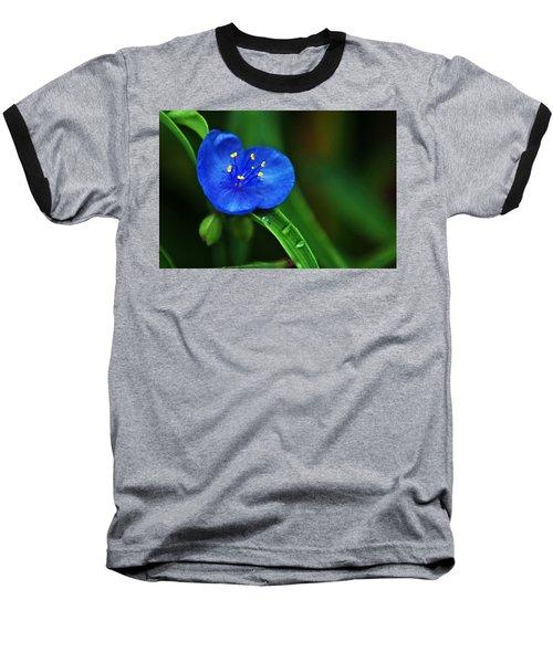 Yellow Blue And Raindrops Baseball T-Shirt