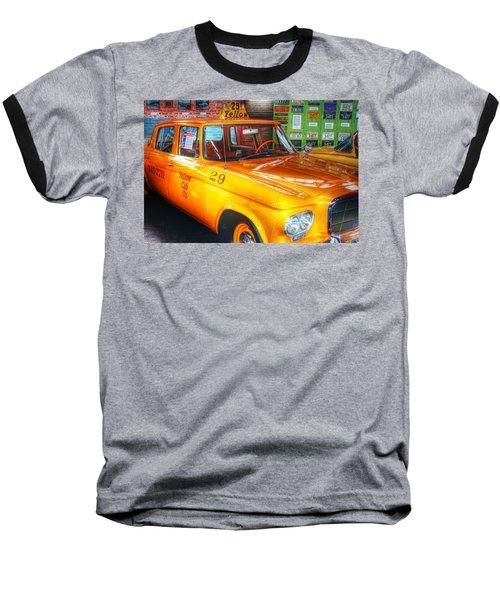 Yellow Cab No.29 Baseball T-Shirt by Dan Stone