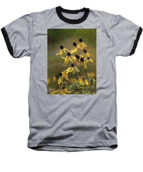 Yellow Coneflowers Baseball T-Shirt by Bruce Morrison