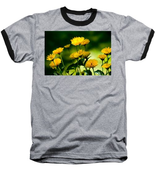 Yellow Daisies Baseball T-Shirt