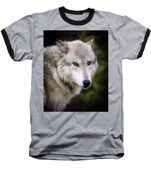 Baseball T-Shirt featuring the photograph Yellow Eyes by Steve McKinzie