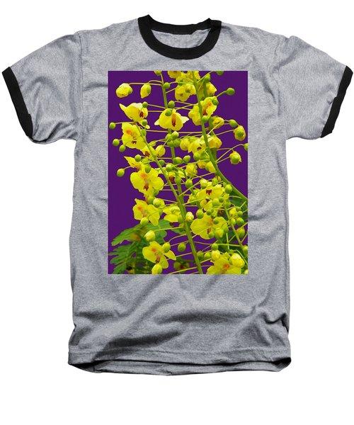 Yellow Flower Baseball T-Shirt by Manuela Constantin