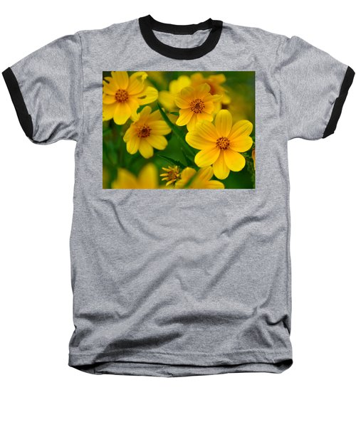 Baseball T-Shirt featuring the photograph Yellow Flowers by Marty Koch