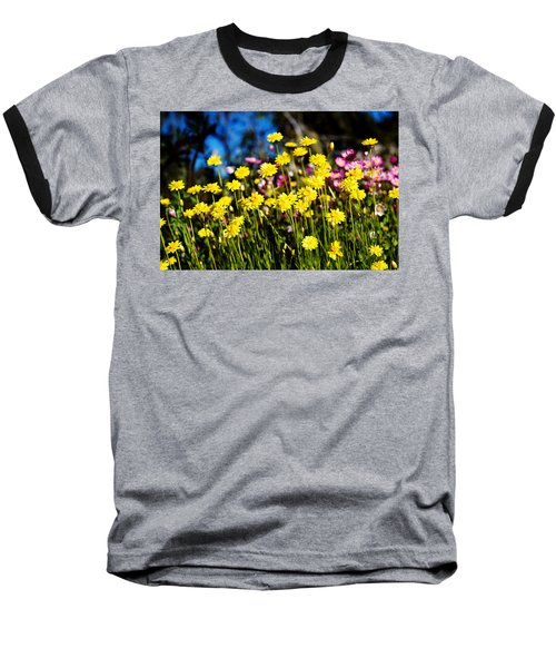 Baseball T-Shirt featuring the photograph Yellow Flowers by Yew Kwang