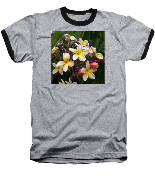 Yellow Plumeria Baseball T-Shirt
