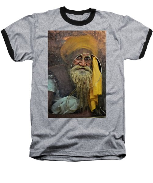Yellow Turban At The Window Baseball T-Shirt by Valerie Rosen