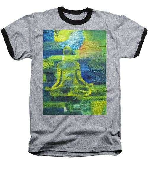 Yoga Textured Canvas Series I Baseball T-Shirt by Patricia Cleasby
