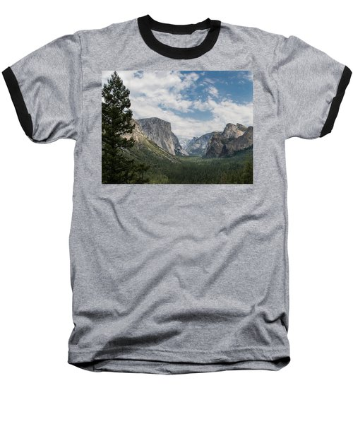 Yosemite Valley From Tunnel View At Yosemite Np Baseball T-Shirt
