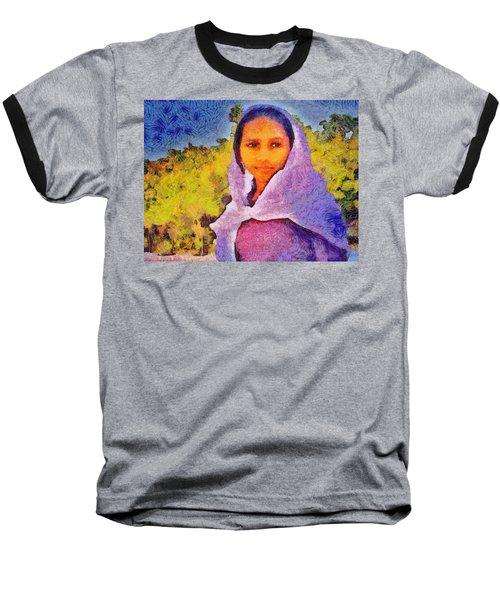 Young Moroccan Girl Baseball T-Shirt