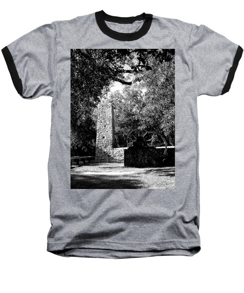 Yulee Sugarmill 2  Black And White Baseball T-Shirt by Judy Wanamaker